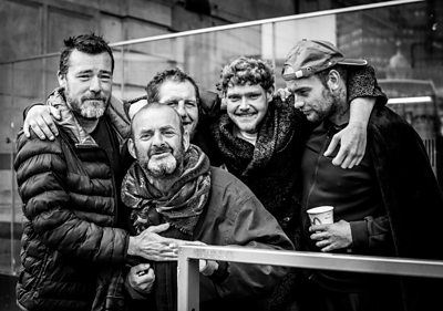 Photographer Anthony Dawton says people pretend the homeless community 'is not there'.