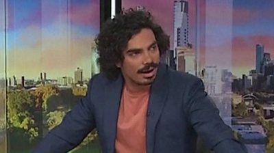 ABC studio presenters were on air when the earthquake struck