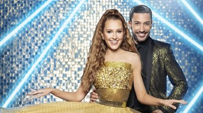 Rose Ayling-Ellis and her dance partner Giovanni Pernice prepare for their first live performance.