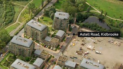 Aerial of Astell Road, Kidbrooke