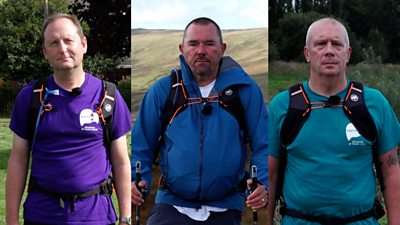 The men will be walking 300 miles over two weeks between their homes to raise money and awareness.