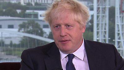 UK Prime Minister, Boris Johnson on The Andrew Marr Show.