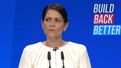 Priti Patel has announced a policing inquiry during a Conservative conference focused on women's safety.