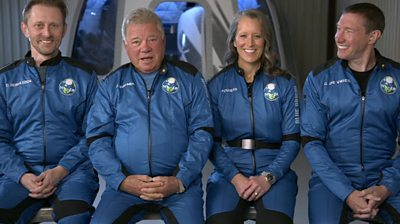 William Shatner (second from left)