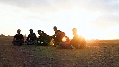 Afghans near the Turkey-Iran border