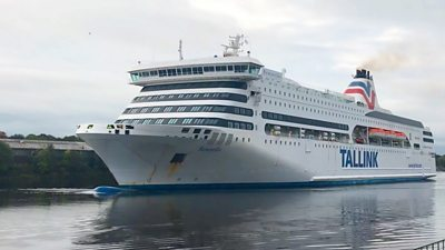 The MS Romantika ship, which used to operate between Riga and Stockholm, arrived in Scotland on Tuesday.
