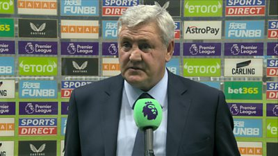 """Steve Bruce says he will """"carry on"""" as doubts about his future at the club continue after Newcastle's 2-3 loss to Tottenham."""