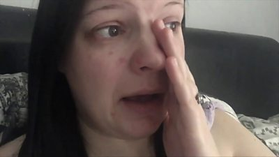 Laura Anderson during her video diary
