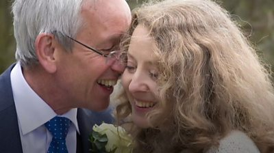 Tina and Steve on their wedding day