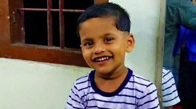 Three-year-old Sachu