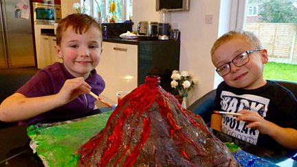 Bobby and Lenny's Erupting Volcano