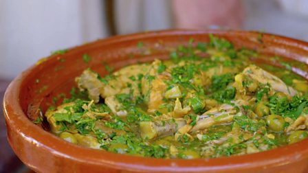 Bbc food recipes chicken tagine with preserved lemon and green chicken tagine with preserved lemon and green olives forumfinder Gallery