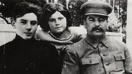 Stalin with his son Vassily and daughter Svetlana