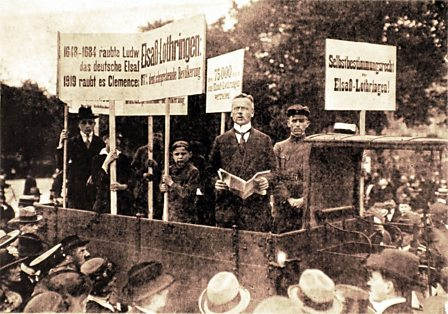 Protests in Germany against the Treaty of Versailles