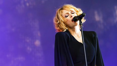 Goldfrapp on the West Holts stage