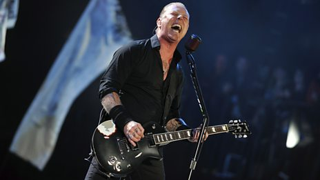Metallica on the Pyramid stage