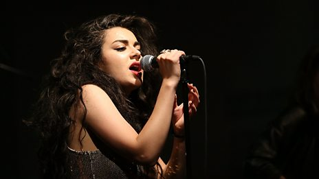 Charli XCX joins Annie Mac on the BBC Introducing stage at Glastonbury