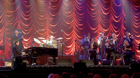 Jools Holland and the band perform Bumble Boogie