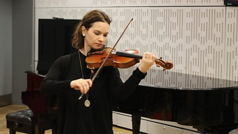 Thrilling Bach from Hilary Hahn live on In Tune