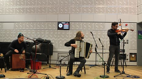 Listen to Chango Spasiuk in session for World on 3