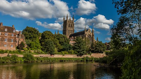 Follow the River Severn as it runs through Worcester where Elgar spent his childhood...