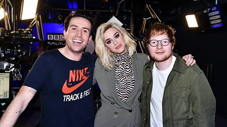 Ed Sheeran crashes Katy Perry's interview!