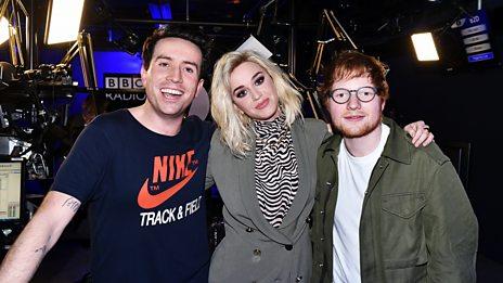 Ed Sheeran crashes Katy Perry's interview!
