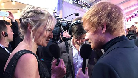 Ed Sheeran brought his school mates to the BRITs 2017!
