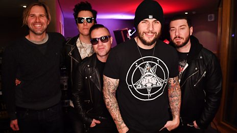 Avenged Sevenfold in session at Maida Vale