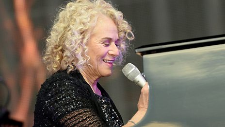 The Carole King of yesterday and today performing together