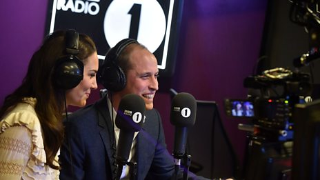 The Duke and Duchess of Cambridge read the Official Chart Top Ten