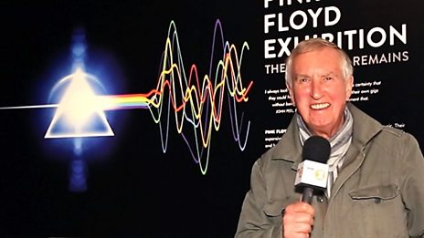 Johnnie Walker visits the Pink Floyd 'Their Mortal Remains' Exhibition at The V&A