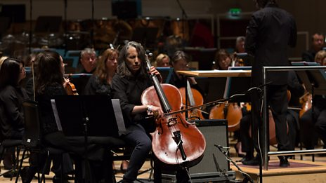 Watch an excerpt of cellist Lori Goldston perform with the BBC Scottish Symphony Orchestra
