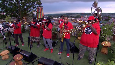 Hot 8 Brass Band - Can't Nobody Get Down (Glastonbury session)