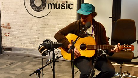 Michael Nau in session for Lauren Laverne in the 6 Music Live Room