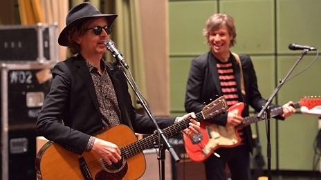 "Beck performs ""Up All Night"" and ""Lost Cause"" live in session"