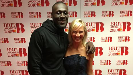 On the red carpet with Stormzy at The BRIT Awards