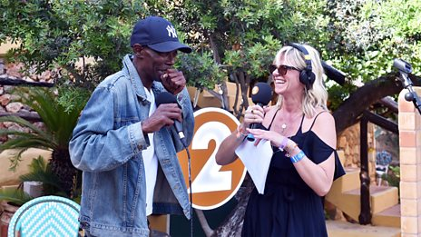 Maxi Jazz from Faithless performs live in Ibiza