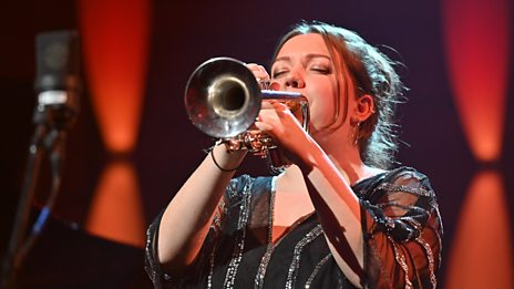 Previous winner, Alexandra Ridout, returned to perform at the BBC Young Jazz Musician 2018 Final