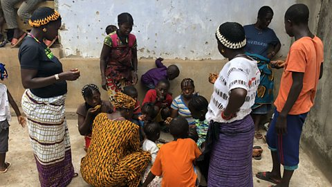 Civilians displaced by post-election violence in Sierra Leone