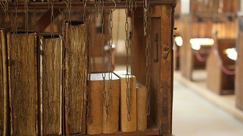 The ancient books under lock and key