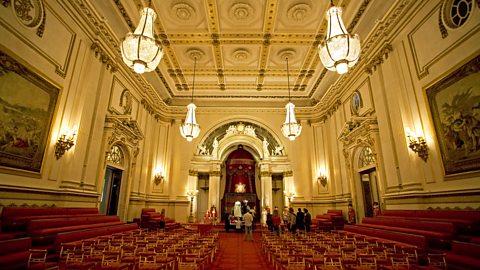 Take a look around Buckingham Palace