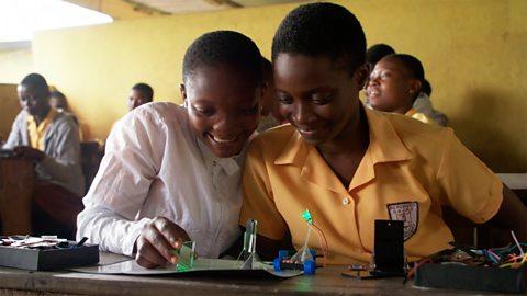 Children pursuing their science dream