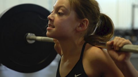 The 12-year-old weightlifter