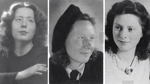 Three girls in resistance