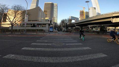 Walking Beijing's near-empty streets