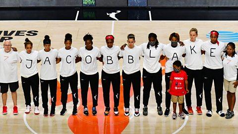 The Washington Mystics after the WNBA postponed its matches