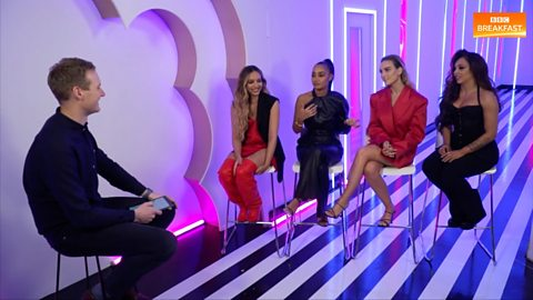 Dan Walker caught up with Little Mix (Filmed in February 2020)