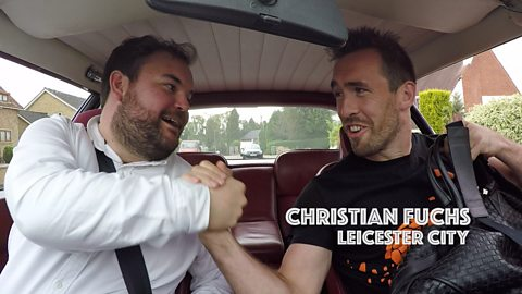 Taxi To Training: Watch what happens when Christian Fuchs hitches a lift to training