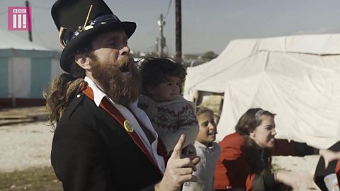 The performers bringing joy to child refugees